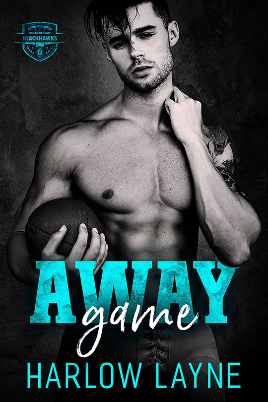Away Game by Harlow Layne, Harlow Layne author, Eric Guilmette model