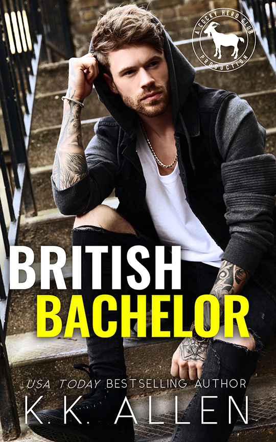 British Bachelor by K.K. Allen, K.K. Allen romance author, CJC Photography romance book photographer