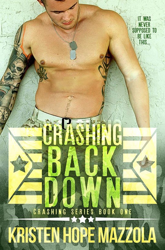 Crashing Back Down by Kristen Hope Mazzola, Alex Neff, CJC Photography,Florida photographer, book cover photographer, romance book cover photographer