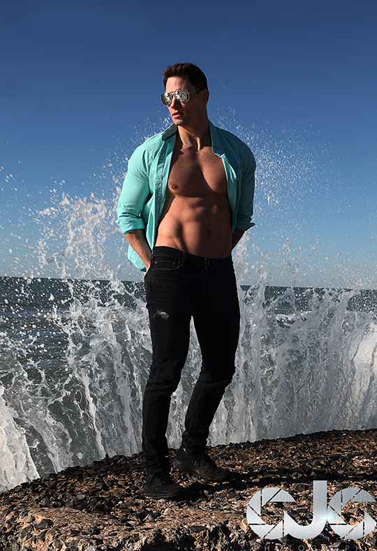 CJC Photography, David Wills, David Wills fitness model, Florida photographer, book cover photographer, romance book cover photographer