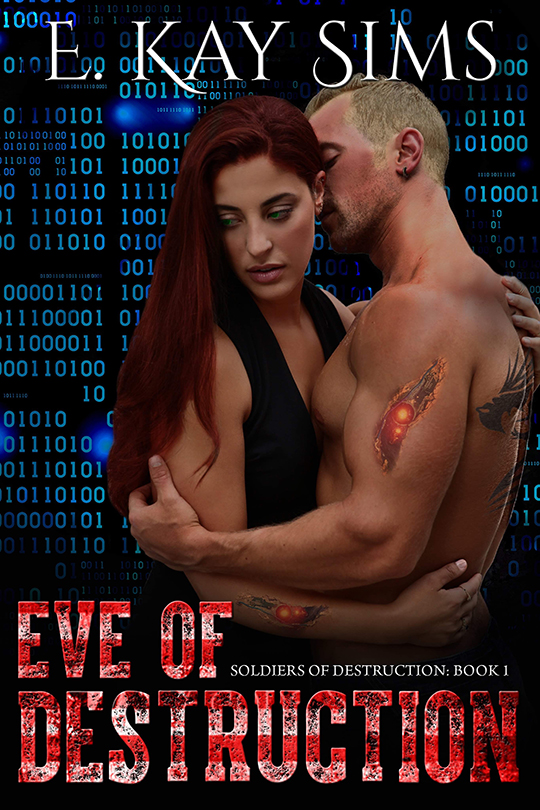 Eve of Destruction by E. Kay Sims, E. Kay Sims author, Gideon Connelly model