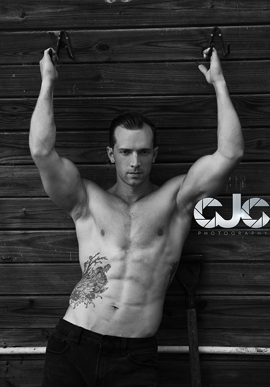 CJC Photography, Gideon Connelly fitness model, Florida photographer, book cover photographer, romance book cover photographer