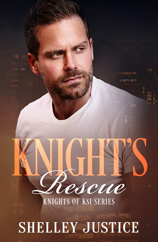 Knights Rescue by Shelley Justice, Shelley Justice author, Burton Hughes model, CJC Photography book cover photographer