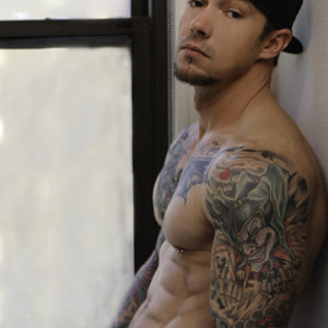 CJC Photography, Boston, book cover photographer, fitness model, Lance Jones, tattoo model