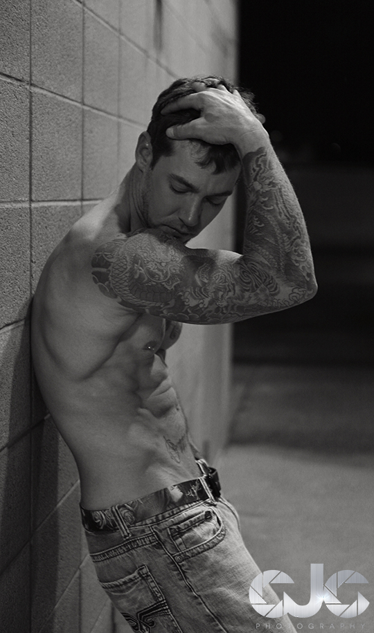 CJC Photography, Boston, book cover photographer, romance novel, Lance Jones, tattoo model