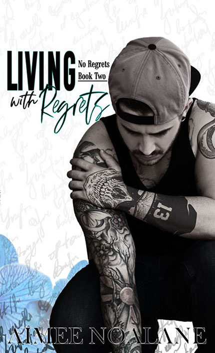 Living With Regrets by Aimee Noalane, Aimee Noalane romance author, Josh McCann model