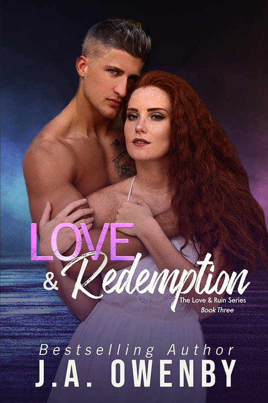Love & Redemption by J.A. Owenby, J.A. Owenby romance author, Quinn Biddle model