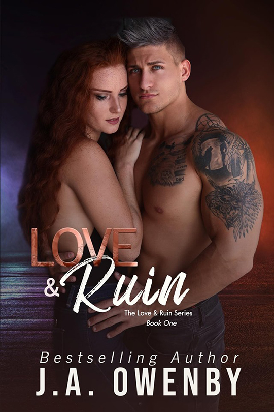Love & Ruin by J.A. Owenby, J.A. Owenby romance author, Quinn Biddle model, Jackie Coleman model