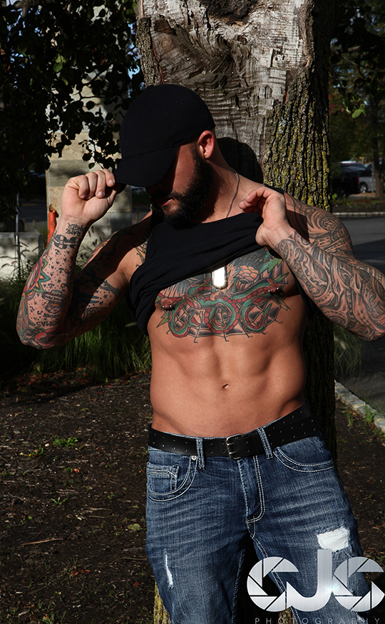 CJC Photography, Matthew Hosea model, Matthew Hosea inked model, Florida photographer, book cover photographer, romance book cover photographer