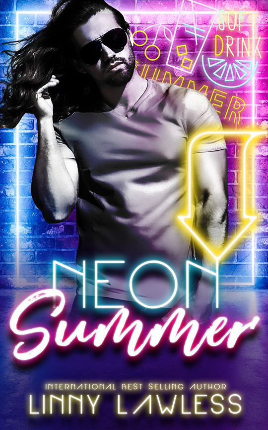 Neon Summer by Linny Lawless, Linny Lawless romance author, Jamieson Fitzpatrick model