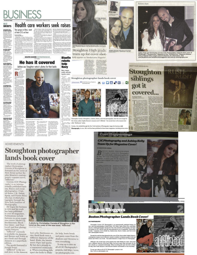 CJC Photography, Patriot Ledger, The Enterprise, Stoughton Journal, Dirty Water News, Book Cover Photographer