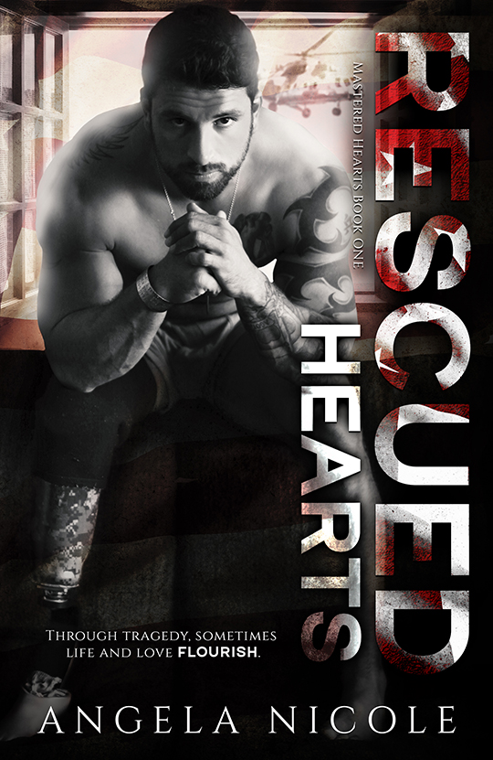 Rescued Hearts by Angela Nicole, Angela Nicole romance author, BT Urruela model