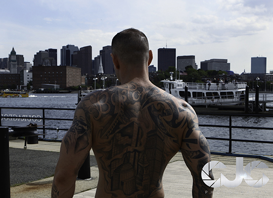 CJC Photography, Boston, book cover photographer, tattoo model, fitness model