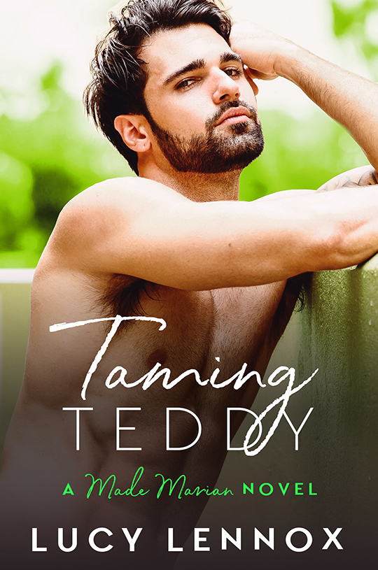 Lucy Lennox gay romance author, Taming Teddy by Lucy Lennox, CJC Photography book cover photographer