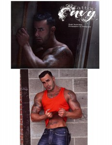 CJC Photography, Boston, Tattoo Envy Magazine, Darren Birks, book cover photographer, tattoo model