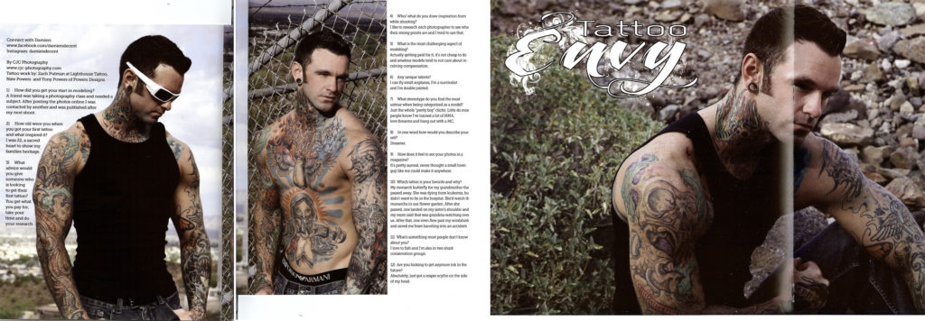 Tattoo Envy Magazine, Tattoo Magazine, Damien Decent, CJC Photography