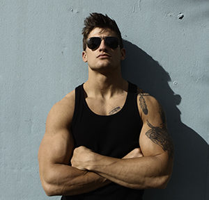 CJC Photography, Boston, book cover photographer, romance novel, Quinn Biddle, tattoo model, fitness model