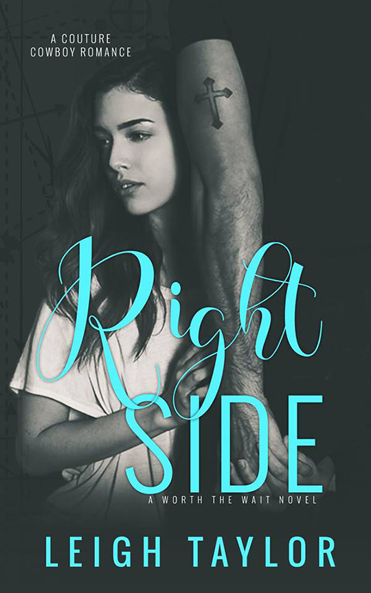 Right Side by Leigh Taylor, Leigh Taylor author, Lauren Summer Barrett model, CJC Photography, Florida photographer,  book cover photographer, romance book cover photographer